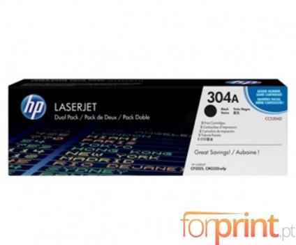 2 Toners Originais, HP 304A Preto ~ 3.500 Paginas