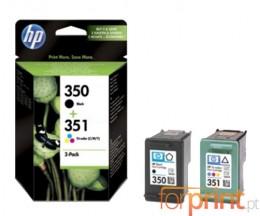 2 Tinteiros Originais, HP 350 Preto 4.5ml + HP 351 Cor 3.5ml
