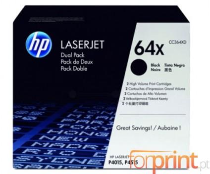 2 Toners Originais, HP 64X Preto ~ 24.000 Paginas