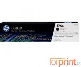 2 Toners Originais, HP 126A Preto ~ 1.200 Paginas