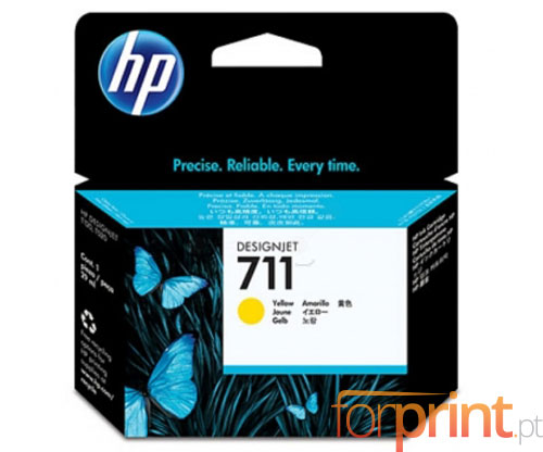 Tinteiro Original HP 711 Amarelo 29ml