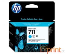 3 Tinteiros Originais, HP 711 Cyan 29ml