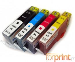 4 Tinteiros Compativeis, HP 364 XL Preto 18.6ml + Cor 14.6ml