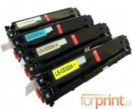 4 Toners Compativeis, HP 128A Preto + Cor ~ 2.200 / 1.400 Paginas
