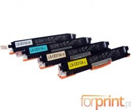 4 Toners Compativeis, HP 126A Preto + Cor ~ 1.200 / 1.000 Paginas