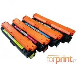 4 Toners Compativeis, HP 307A Preto + Cor ~ 7.000 / 7.300