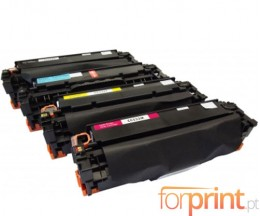 4 Toners Compativeis, HP 304A Preto + Cor ~ 4.400 / 2.800 Paginas