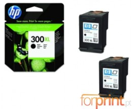 2 Tinteiros Originais, HP 300 XL Preto 12ml