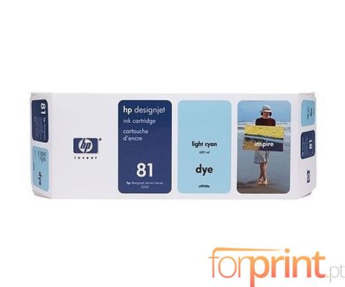 Tinteiro Original HP 81 Cyan Claro 680ml ~ 1.000 Paginas
