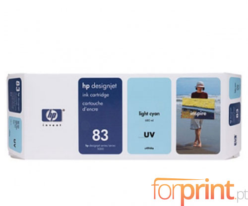 Tinteiro Original HP 83 UV Cyan Claro 680ml