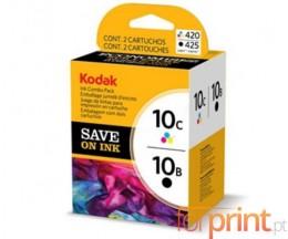 2 Tinteiros Originais, Kodak 3949948 Preto 15ml + Cor 60ml ~ 420 Paginas
