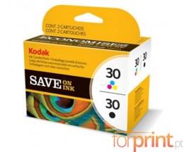 2 Tinteiros Originais, Kodak 3952355 Preto + Cor ~ 335 / 275 Paginas