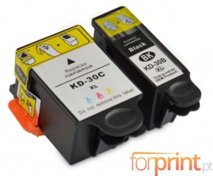 2 Tinteiros Compativeis, Kodak 3952355 Preto 16ml + Cor 40ml