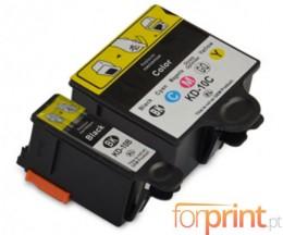2 Tinteiros Compativeis, Kodak 3949948 Preto 15ml + Cor 60ml