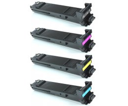 4 Toners Compativeis, Konica Minolta A0DKX53 Preto + Cor ~ 8.000 Paginas