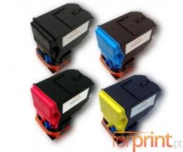 4 Toners Compativeis, Konica Minolta A0X5X50 Preto + Cor ~ 6.000 Paginas