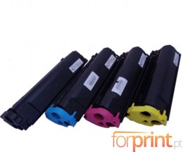 4 Toners Compativeis, Konica Minolta 4576X11 Preto + Cor ~ 4.500 Paginas