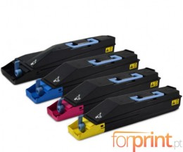 4 Toners Compativeis, Kyocera TK 865 Preto + Cor ~ 20.000 / 12.000 Paginas