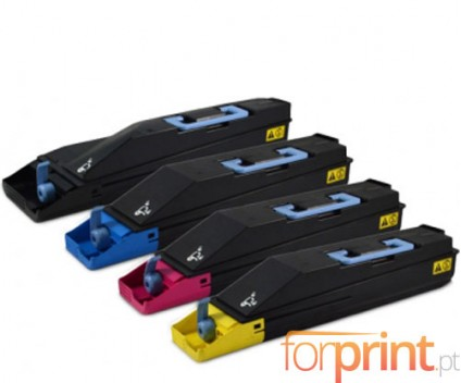4 Toners Compativeis, Kyocera TK 880 Preto + Cor ~ 25.000 / 18.000 Paginas
