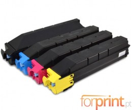 4 Toners Compativeis, Kyocera TK 8305 Preto + Cor ~ 25.000 / 15.000 Paginas