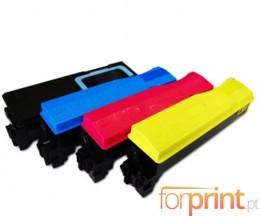 4 Toners Compativel Kyocera TK 570 Preto + Cor ~ 16.000 / 12.000 Paginas