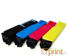 4 Toners Compativeis, Kyocera TK 550 Preto + Cor ~ 7.000 / 6.000 Paginas