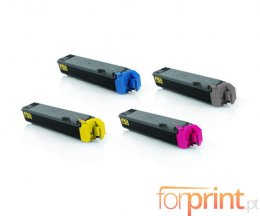 4 Toners Compativeis, Kyocera TK 5160 Preto + Cor ~ 16.000 / 12.000 Paginas