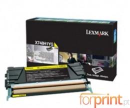 Toner Original Lexmark X748H1YG Amarelo ~ 10.000 Paginas