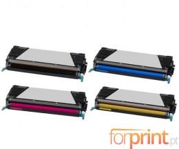 4 Toners Compativeis, Lexmark C734A1 ~ 12.000 / 10.000 Paginas