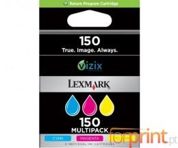 3 Tinteiros Originais, Lexmark 150 Cores ~ 200 Paginas