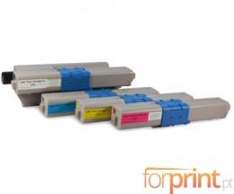 4 Toners Compativeis, OKI 4497353X Preto + Cor ~ 2.200 / 1.500 Paginas