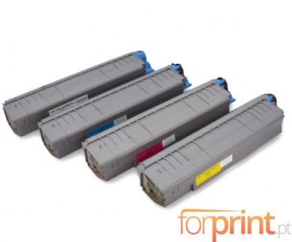 4 Toners Compativeis, OKI 4405910X ~ 8.000 Paginas