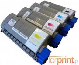 4 Toners Compativeis, OKI 4431860X Preto + Cor ~ 11.000 / 11.500 Paginas