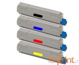 4 Toners Compativeis, OKI 434877XX ~ 6.000 Paginas