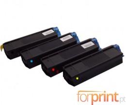 4 Toners Compativeis, OKI 4212740X ~ 5.000 Paginas