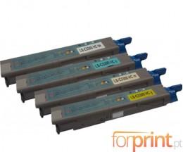 4 Toners Compativeis, OKI 4345943X ~ 2.500 Paginas