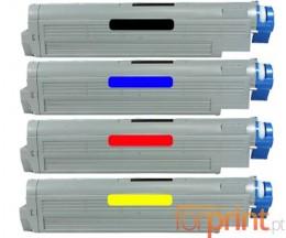 4 Toners Compativeis, OKI 4291891X ~ 15.000 Paginas