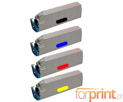 4 Toners Compativeis, OKI 415152XX ~ 15.000 Paginas