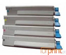 4 Toners Compativeis, OKI 43324408 Preto + 4338190X Cor ~ 6.000 / 2.000 Paginas