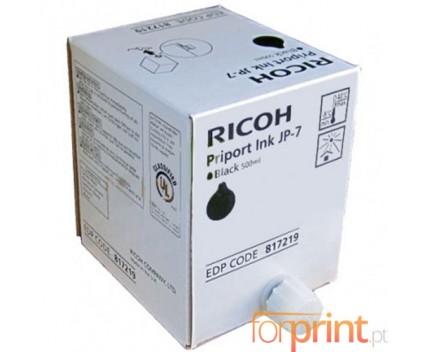 5 Tinteiros Originais, Ricoh 893713 Preto 500ml