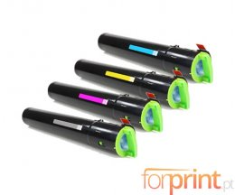4 Toners Compativeis, Ricoh 84150X Preto + Cor ~ 10.000 / 9.500 Paginas