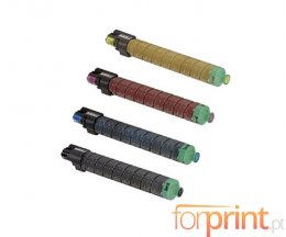 4 Toners Compativeis, Ricoh 84145X Preto + Cor ~ 22.500 / 17.000 Paginas