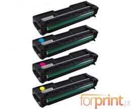 4 Toners Compativeis, Ricoh 4064XX Preto + Cor ~ 6.500 / 6.000 Paginas