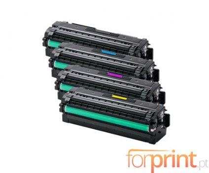 4 Toners Compativeis, Samsung 505L Preto + Cor ~ 6.000 / 3.500 Paginas