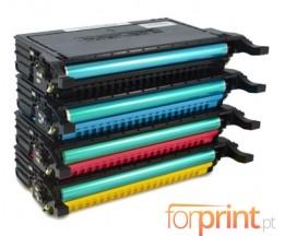 4 Toners Compativeis, Samsung 660B Preto + Cor 5.000 Paginas