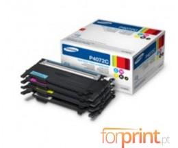 4 Toners Originais, Samsung 4072S Preto + Cor ~ 1.500 / 1.000 paginas