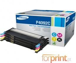 4 Toners Originais, Samsung 4092S Preto + Cor ~ 1.500 / 1.000 Paginas