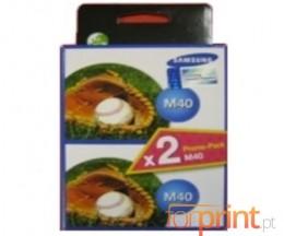 2 Tinteiros Originais, Samsung M-40 Preto 14ml
