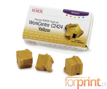 3 ColorSticks Originais, Xerox 108R00662 Amarelo ~ 3.400 Paginas