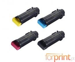 4 Toners Compativeis, Xerox 106R034XX Preto + Cor ~ 5.500 / 2.400 Paginas